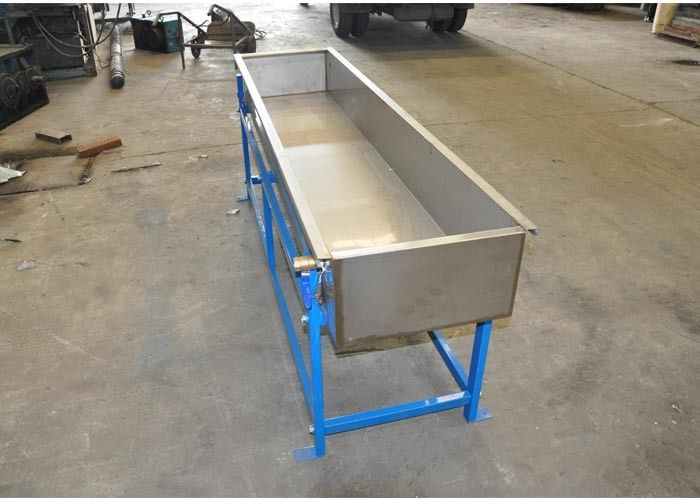 2m Cooling Trough Plastic Auxiliary Equipment 201 Stainless Steel Recycling System